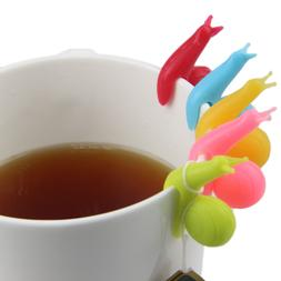 Cute Candy Colors Snail Shape Silicone For Mug Cup <font><b>