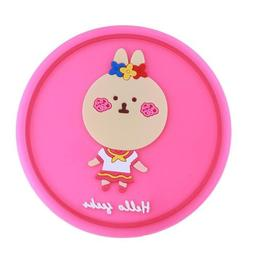 Cute Coaster Nonslip Place Mat Silicone Cartoon Cup Tea Cup