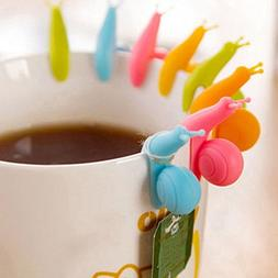 eBoot 10 Pcs Cute Snail Shape Silicone Tea Bag Holder