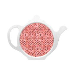 Melamaster Diced Teabag Tidy Tea Bag Serving Coaster Tray Te