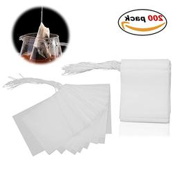 Adecco LLC Disposable Tea Filter Bags - 200 Count