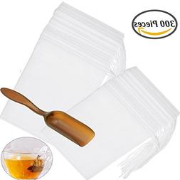 300 PCS Disposable Tea Filter Bags with Free Tea Spoon, Empt