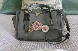 Coach Dreamer Bag with Tea Roses - Grey Leather with Tea Ros
