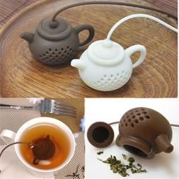 Durable Teapot-Shape Tea Infuser Diffuser Strainer Silicone
