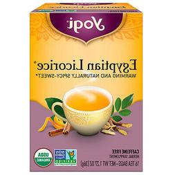 Yogi Tea Egyptian Licorice - Caffeine Free - 16 Tea Bags -Pa