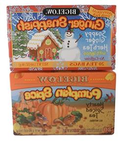 Fall Flavors Bigelow Tea Bundle of Two Items: One Box Ginger