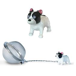 French Bulldog Tea Ball Infuser with Charm - Great Gift for
