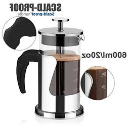 French Press Coffee & Tea Maker with Filter System 304 Grade