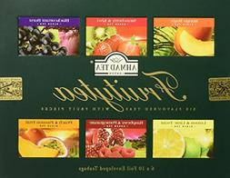 Ahmad Tea Fruitytea Variety Gift Box, 60 Foil Enveloped Teab