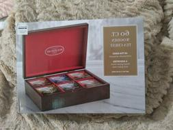 FULTON ST. 1 Wooden Tea Chest + 60 Assorted Tea Bags Individ