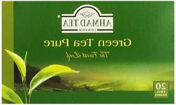 Ahmad Tea Green Tea Pure, 20-Count Boxes
