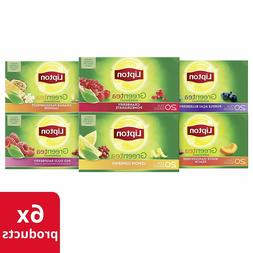 Lipton Green Tea Bags, Tea Variety Pack, 20 ct, Pack of 6