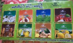 TEA LAND GREEN TEA COLLECTION 8 FLAVORS 40 INDIVIDUAL WRAPPE