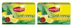 Lipton Green Tea Lemon Ginseng Tea Bags 2 Box Pack