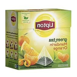 Lipton Green Tea Pyramids, Mandarin Orange, 20 bags
