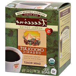 Teeccino Herbal Coffee Chocolate Dark Roast - 10 Tea Bags -