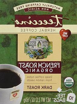 Teeccino French Roast Chicory Roasted Herbal Tea Bags, No Ca