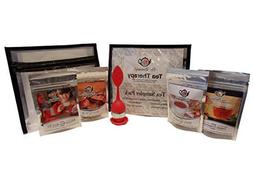 Herbal Tea Sampler Pack with Infuser and 4 Flavored Organic
