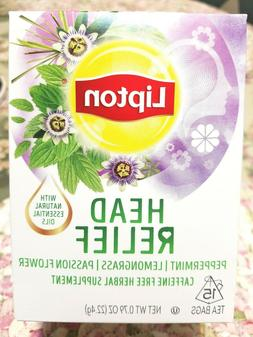 Lipton Herbal Supplement with Green Tea, Daily Support, 15 c