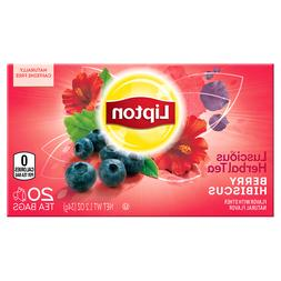 Lipton Herbal Tea Bags Berry Hibiscus, 20 ct