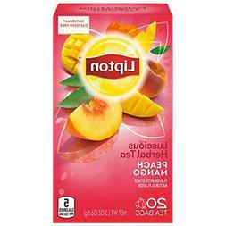 Lipton Herbal Tea Bags, Peach Mango, 20 ct