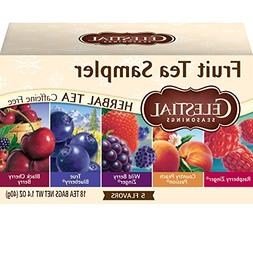 Celestial Seasonings Tea Fruit Sampler Herb Teas, Bags 20 ea