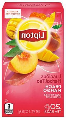 Lipton Herbal Tea, Peach Mango, 20 ct