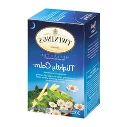 TWININGS HERBAL TEA NIGHTLY CALM 20 Tea Bags