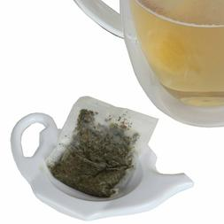 "Home-X Teapot-Shaped Teabag Holders Set Of 4 Kitchen "" Dinin"
