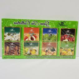 Tea Land Hot Green Tea Sampler - 40 Tea Bag, 8 Flavor Assort