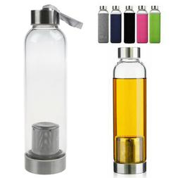 7a8f0b997f Insulated Glass Water Bottle Protective Bag With Filter Tea