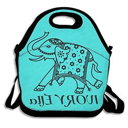IVORY ELLA Mint Green Lunch Bags Insulated Travel Picnic Lun