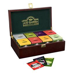 Ahmad Tea Keeper Wooden Box with 80-Count Assorted Tea Bags
