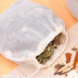 Kitchen Tea Filter Bags Reuable Cotton Tea Infuser and Herbs