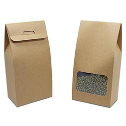 Kraft Paper Gift Wedding Bakery Package Box with Clear Windo