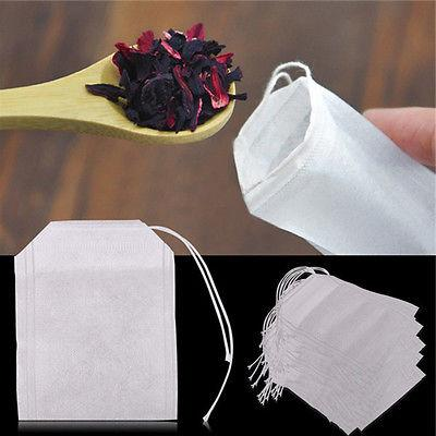 "100pcs Empty Woven Style Draw String Tea Bags 2""*2.75"" 100XR"