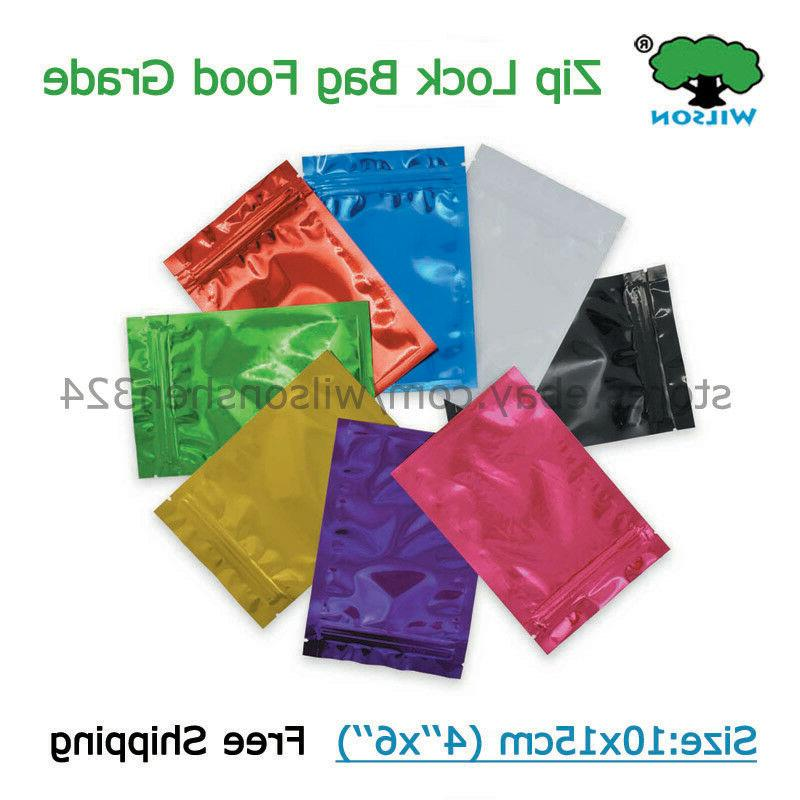 4x5 inch Zip Colorful Sack For Herbal