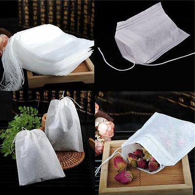 500x non woven empty teabags string heat