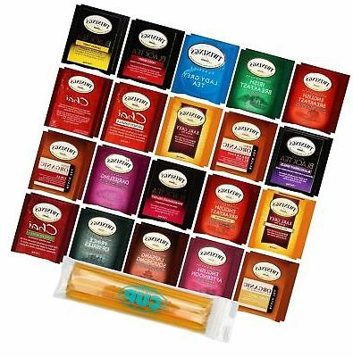 Twinings Tea Bag & By The Cup Honey Stix Variety 40 Ct inclu