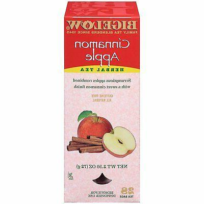 Bigelow Tea Bags, Cinnamon Apple Herbal, 28-Count Boxes