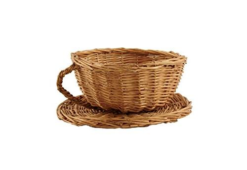 brown willow cup saucer gift