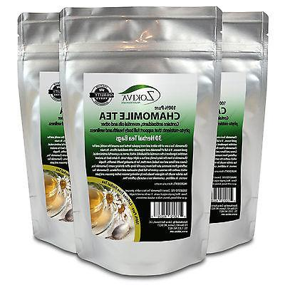 Chamomile Tea 3-Pack Bags Calming Resealable Pouch