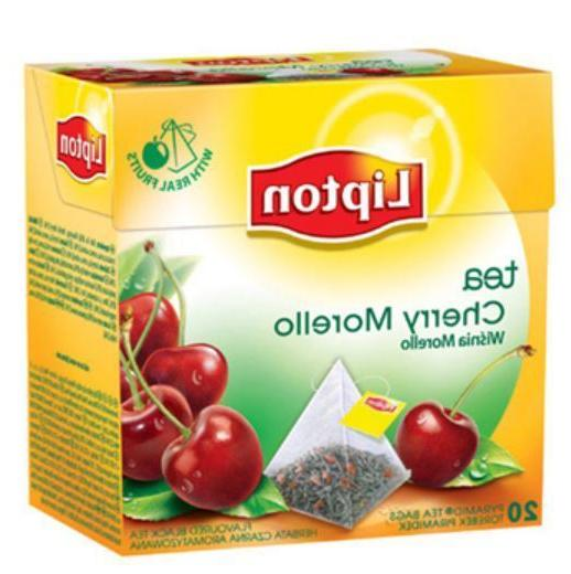Lipton Cherry Morello Flavor Tea Box 20 Silk Pyramid Bags