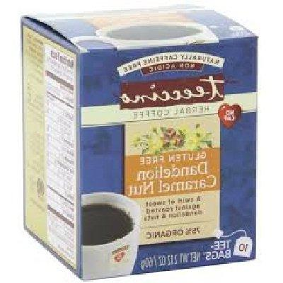 Teeccino Dandelion Caramel Nut Herbal Coffee - 10 bags per p