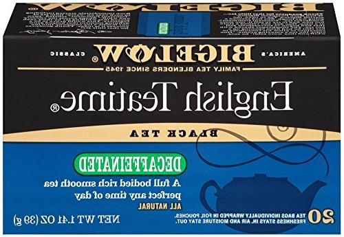 Bigelow Decaffeinated English Teatime Tea 20-Count Boxes  Ca