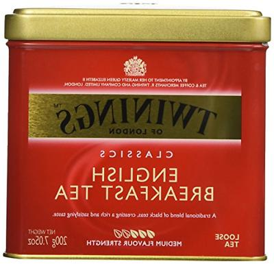 Twinings English Breakfast Tea, Loose Tea, 7.05 oz Tins