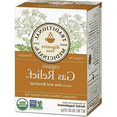 Traditional Medicinals Organic Gas Relief Digestive Tea, 16