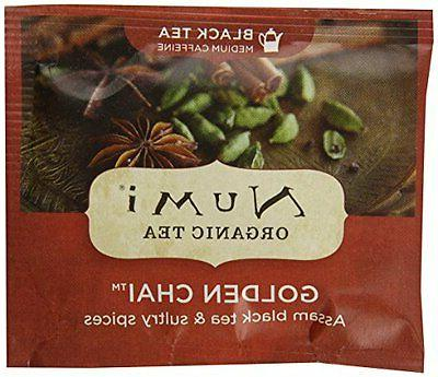 Numi Golden Chai, 100 Count, New, Free Shipping
