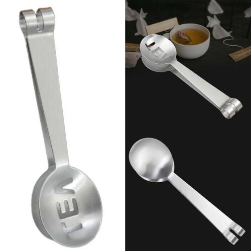 home kitchen stainless steel tea bag tongs