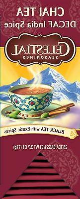Celestial Seasonings Chai Tea, Decaf India Spice, 25 Count